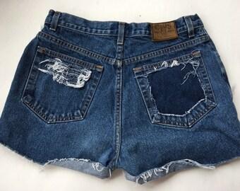 Distressed vintage ralph lauren shorts