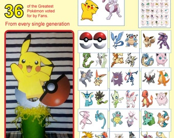 "Pokémon Hunting game - Table Decorations. Pokemon ""Gotta caught ém all!"""