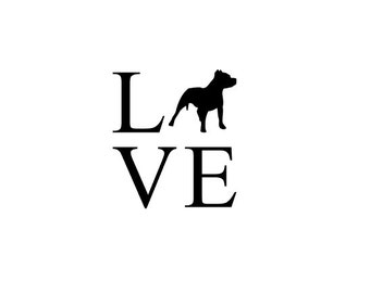 Pit Bull LOVE Decal | Pit Bull Decal | Love Pit Bulls Decal