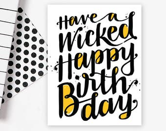 Wicked Happy Birthday • single card