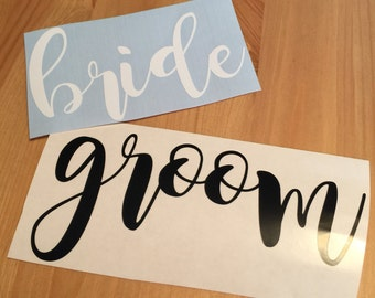 Bride and Groom Decal, Yeti Decal, Personalized Vinyl Decal, Wedding Decal, Bride, Bride and Groom, Couple Decal