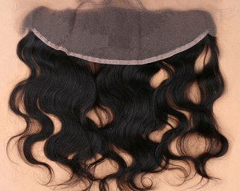 Brazilian Body Wave Lace Frontal Closure 13x4 with bleached knots Virgin Human HairByAmaree *14-20* inches Available