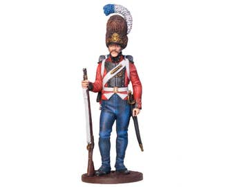 Tin Soldier, Danish Grenadier, Danish Soldier, Historical Miniature, Military Miniature, Tin Warrior, Pewter Soldier, 54 mm, Napoleonic Wars