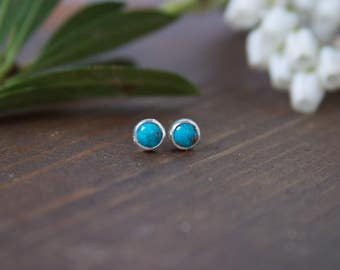 Turquoise Studs, Small earrings, Studs