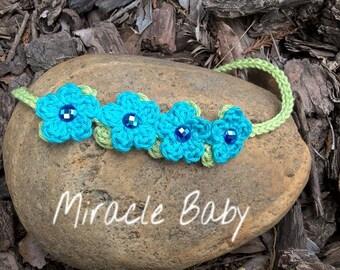 Crochet baby headband, newborn headband, crochet baby accessory