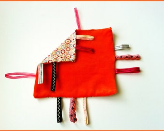 Flat Doudou to labels nicky velvet and cotton orange tones