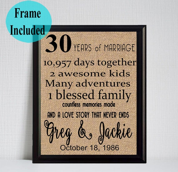 What Is The 30th Wedding Anniversary Gift: 30th Anniversary Gift 30 Year Anniversary Gift For Parents