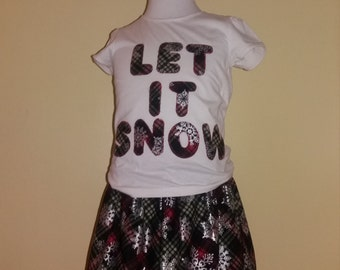 Meloney's Design handmade girls Christmas outfit size 4t