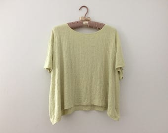 Boxy Soft Jade Green Top T-Shirt // Size 2X XXL Plus Size