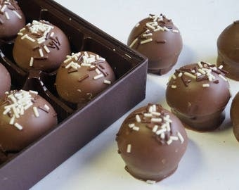 Hazelnut Truffles 9pc. or 15pc. box w/clear top