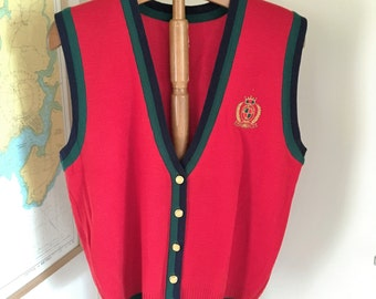Dated 1960's knitted school vest