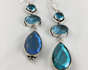 Blue Mystic Dangle Earrings