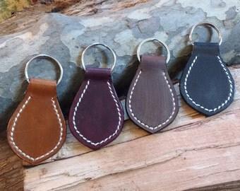 Personalized handmade leather key chain, key fob, key holder, key ring, key chain