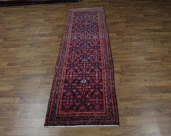 Long Palace Runner S Antique Nahavand Persian Rug Oriental Area Carpet 3ʹ6X12ʹ3