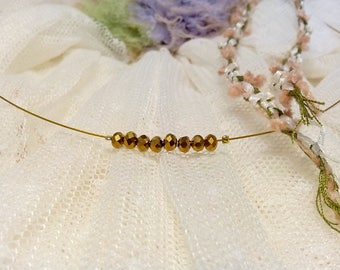 Bridal choker with tiny swarovski crystals, wedding necklace, bridesmaid gift, bridesmaid necklace, bridal shower gift, bachelor gift