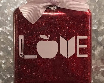 Teacher love ornament