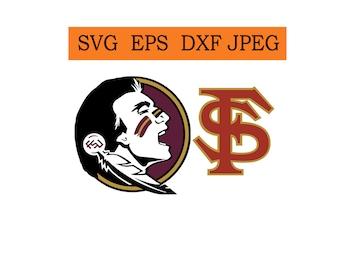 Florida State Seminoles logo in SVG / Eps / Dxf / Jpg files INSTANT DOWNLOAD!