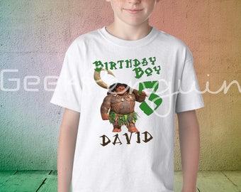 Maui birthday shirt, Boys Moana Birthday Shirt, Maui Party Shirt, Boy's Birthday Shirt, Hawaiian Party Tshirt
