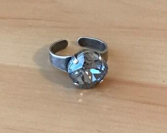 Swarovski 12mm Blue Shade Ring