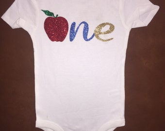 Snow white first birthday one onesie first birthday outfit