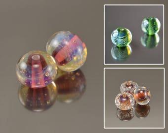 2pcs lampwork beads handmade glass lampwork beadsround beads sra