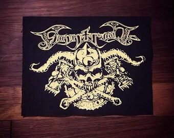 Finntroll MID SIZE BACK patch Logo Band Patch Folk Metal Black Metal