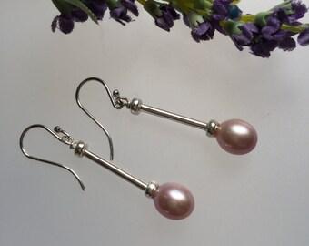 dangle earrings/pearl earrings/drop earrings/pearl drop earrings/pearl dangle earrings/pearl/Sterling silver, pearl/pearl studs/pearl drops/