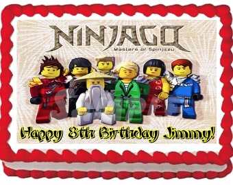 Ninjago Cake Topper Etsy