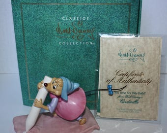 WDCC Cinderella Perla Chalk Mouse Figurine 'No Time For Dilly-Dally!' 1994 Retired Box & Papers