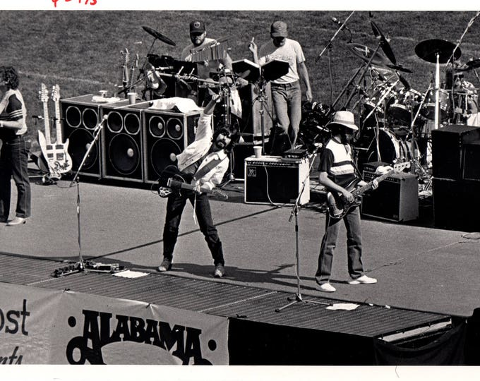 Alabama Concert at Mile High Stadium May 1985 Black & White Press Photo