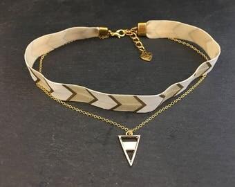 Chain Choker gold triangles