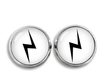 Lightning Bolt Stud Earrings Scar Earrings Fan Earrings Fandom Fangirl Fanboy