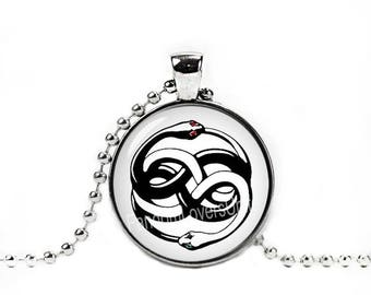 Auryn Necklace Neverending story Pendant Ouroboros Necklace Book Lovers