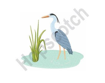 Blue Heron - Machine Embroidery Design