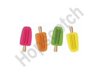 Popsicles - Machine Embroidery Design