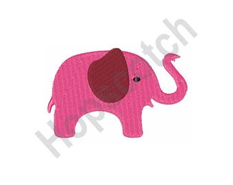 Pink Elephant - Machine Embroidery Design