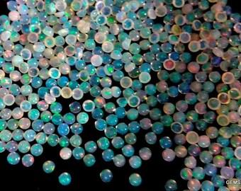 100 pcs Lot 3mm ETHIOPIAN OPAL Cabochon Round gemstone AAA Natural Ethiopian opal round cabochon loose gemstone - Opal Cabochon Gemstone