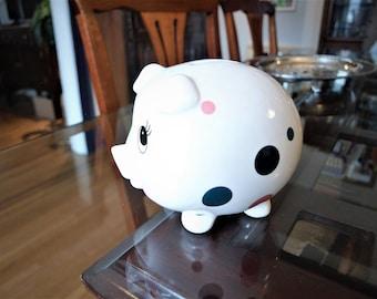 Vintage Ceramic Polka Dot Piggy Bank