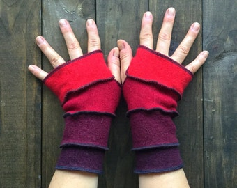 Dragon Gauntlets - Made from Recycled Sweaters// Upcycled Fingerless Gloves