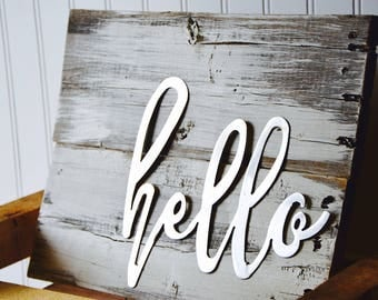 Hello on Wood