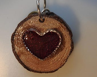 Artisan Created Nature Blessings Red Heart and inspirational charm