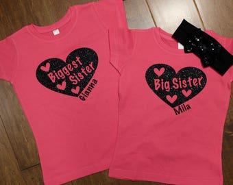 Biggest sister Shirt, Big Sister One Piece, Big Sister, Little Sister Shirt Set, big sister shirt, little sister shirt,Sister Shirt, Sisters