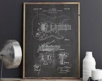 Fender Tremolo Print, Fender Tremolo, Fender, Fender Art, Fender Guitar Art, Fender Guitar Print,Fender Patent Print,Decor, INSTANT DOWNLOAD