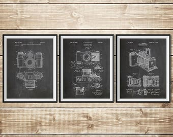 Camera Wall Decor, Patent Print Group, Camera Wall Print, Vintage Camera Decor, Camera Patent Art, Camera Patent Poster, INSTANT DOWNLOAD