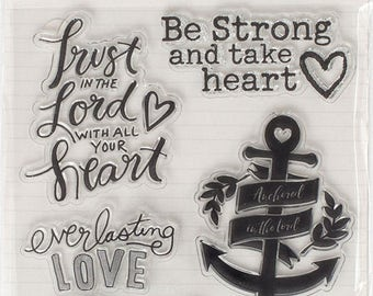 Bible Journaling Stamp-TRUST in the LORD with all your HEART