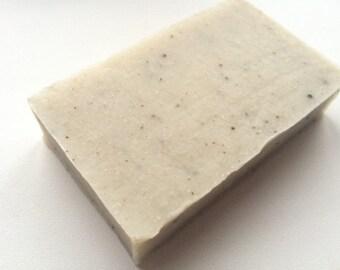 Handmade JUNIPER Clay soap with BENTONITE clay, natural herbal vegan organic body soap bar with essential oils