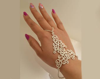 """Silver bracelet """"Kiss"""""""