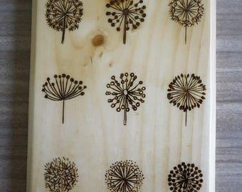 Wood Burned Wall Piece