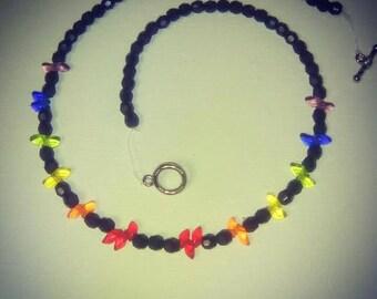 Rainbow Black Necklace