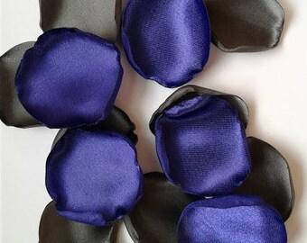 Purple And Gray Wedding Rose Petals Satin Aisle